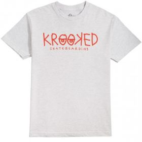 TS short sleeve Krooked - 51023422Q Krooked Eyes - Ash W/ Red Print