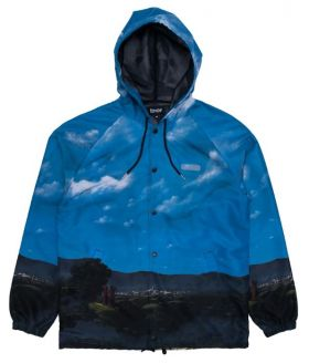 RND4100 Hold Me Hooded Coach Jacket - Navy