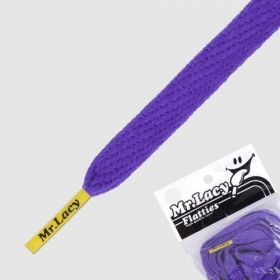 Laces Mr Lacy Flatties - Violet/Yellow Tip