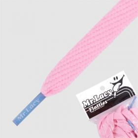 Laces Mr Lacy Flatties - Baby Pink/Kiddy Blue Tip