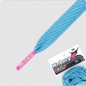 Laces Mr Lacy Flatties - Mellow Blue/Neon Pink Tip