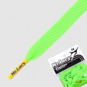 Laces Mr Lacy Flatties - Neon Green/Yellow Tip