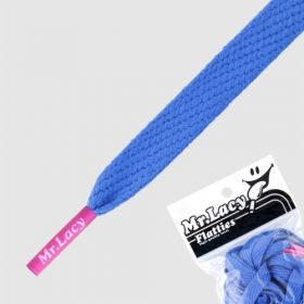 Laces Mr Lacy Flatties - Royal Blue/Neon Pink Tip