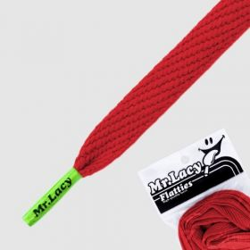 Laces Mr Lacy Flatties - Red/Neon Green Tip