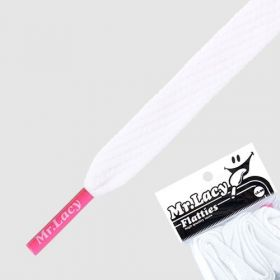 Laces Mr Lacy Flatties - White/Lipstick Pink Tip