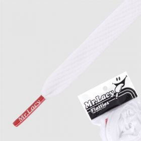 Laces Mr Lacy Flatties - White/Red Tip