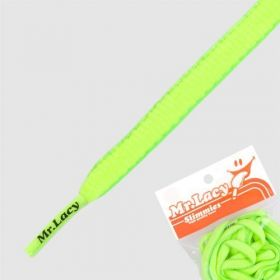 Laces Mr Lacy Slimmies - Neon Yellow / Neon Green